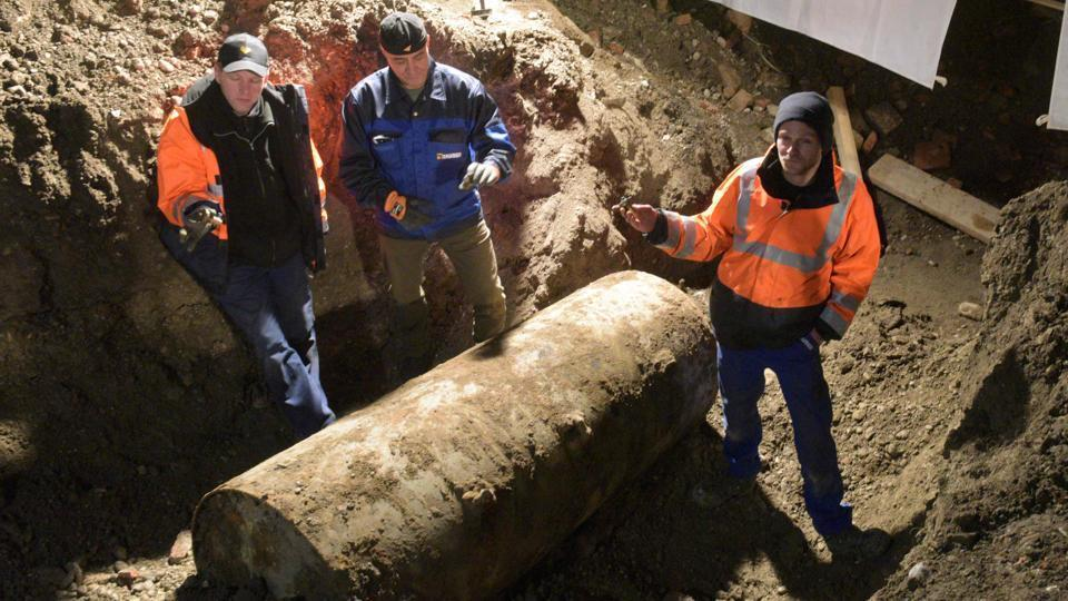 More than 70 years after the end of the war, unexploded bombs are regularly found buried on German land, legacies of the intense bombing campaigns by the Allied forces against Nazi Germany.