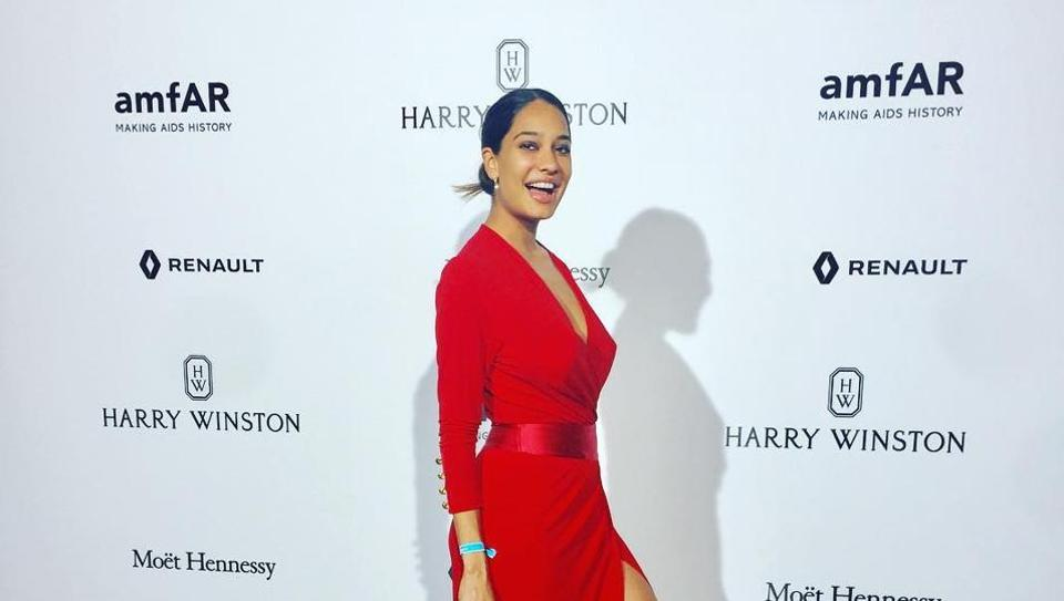 Lisa Haydon at the Paris Fashion Week.