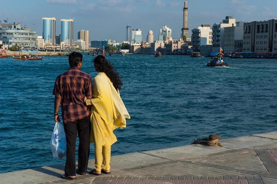 Always  on the outside: An Indian couple in UAE.
