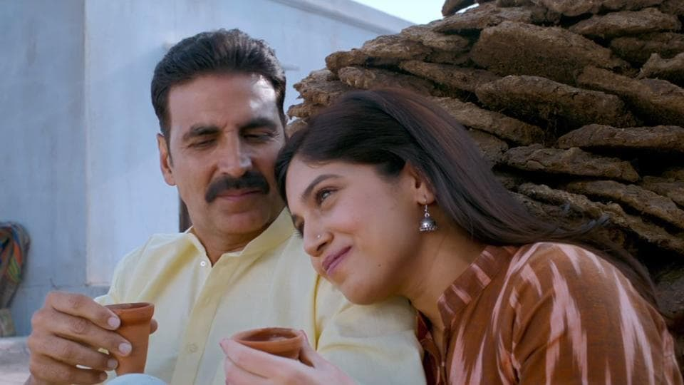 Akshay and Bhumi in a still from the movie.