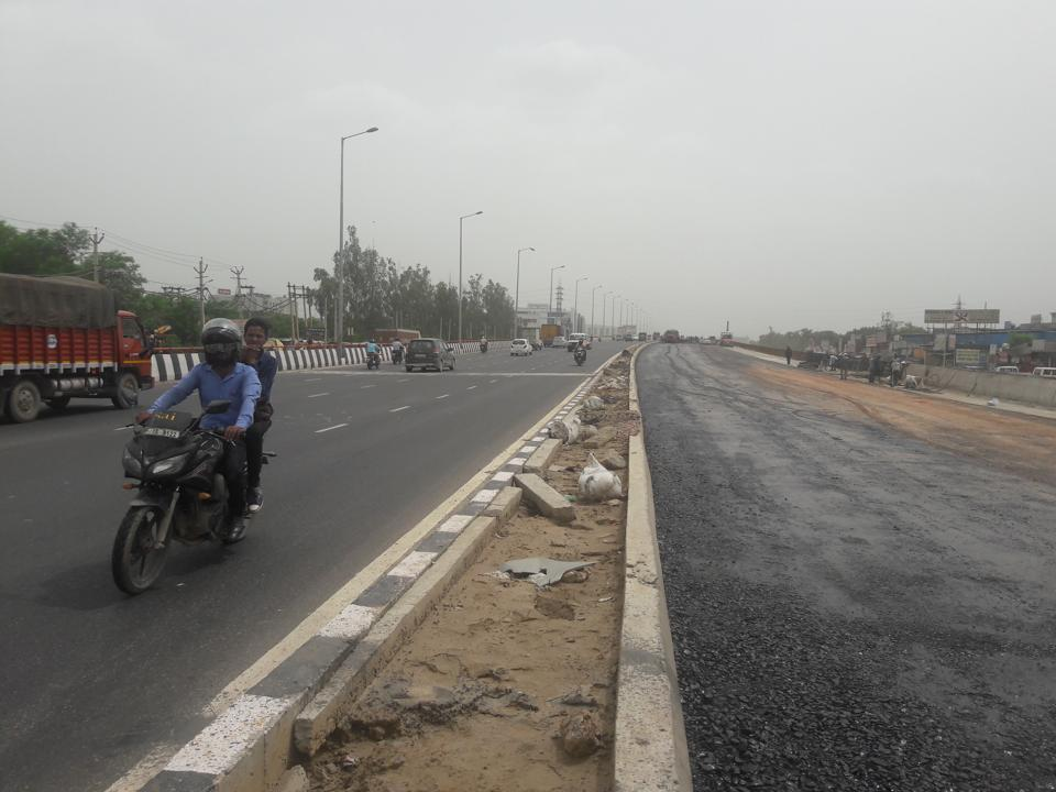 The accident took place on the newly opened flyover at the crossing on Wednesday.