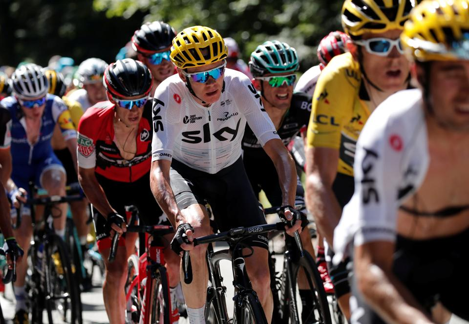 Team Sky rider Chris Froome of Britain in action during Tour de France.