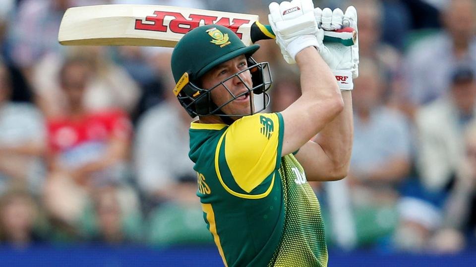 South Africa's AB de Villiers in action against England during their ODI series.