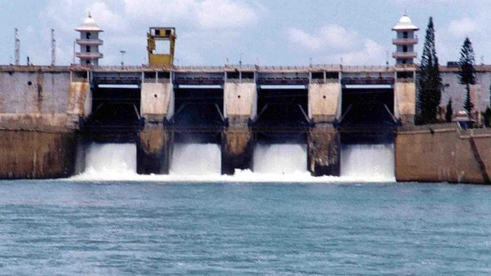 Picture dated 15 September 2002 shows Cauvery river water being realesed from the Kabini Dam at Heggadadevankote province about 165 kms south-west of Bangalore.