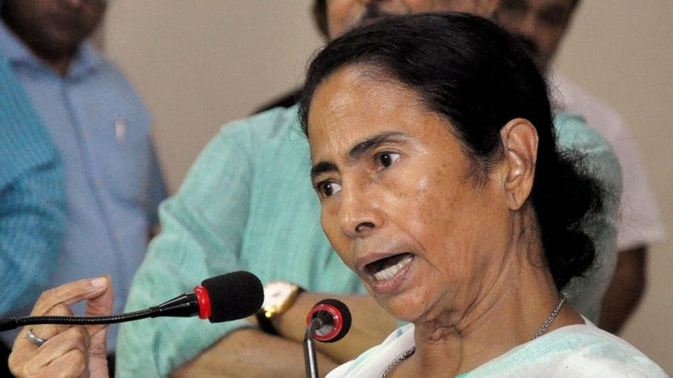 West Bengal chief minister Mamata Banerjee addresses a press conference in Kolkata on Wednesday.