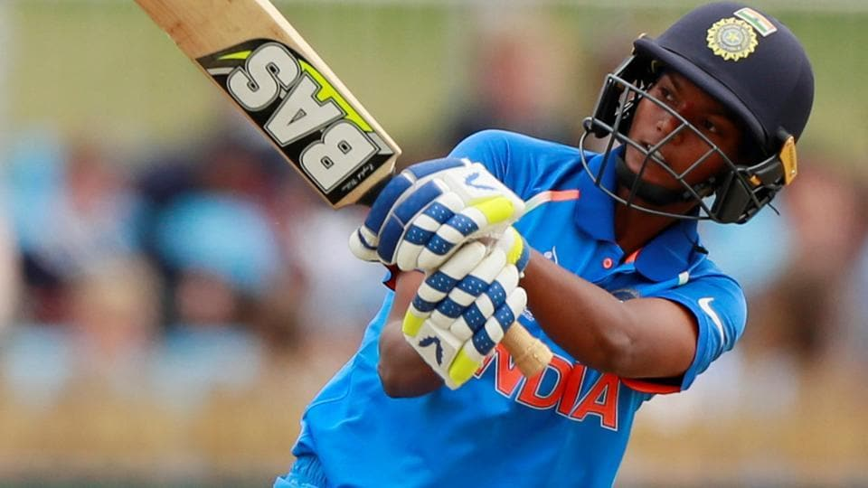 India's Deepti Sharma in action against Sri Lanka in the ICCWomen's World Cup.