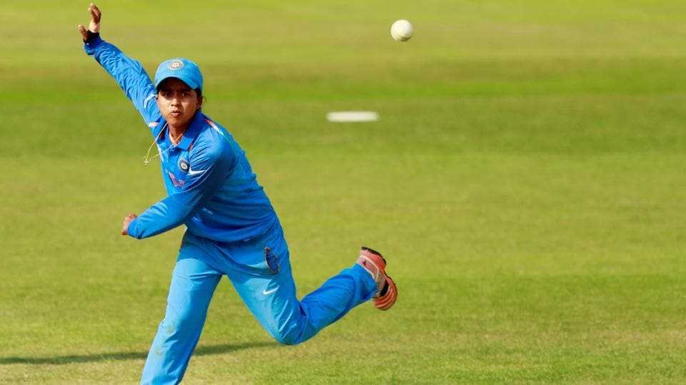 India's Ekta Bisht in action against Sri Lanka in their ICC Women's World Cup encounter. (Action Images via Reuters)