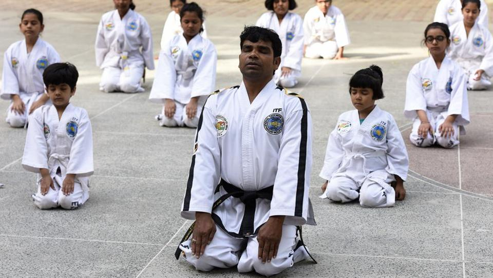 In India Taekwondo was introduced by  Grand Master Jimmy R. Jagtiani. (Sonu Mehta/HT PHOTO)