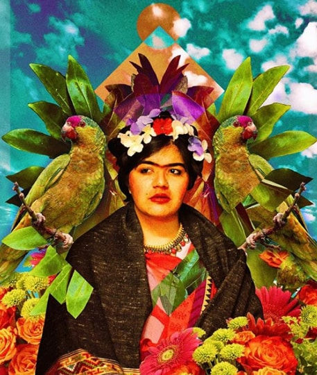 Inspired by Frida, poet Harnidh Kaur dressed up like the icon herself in a photo series