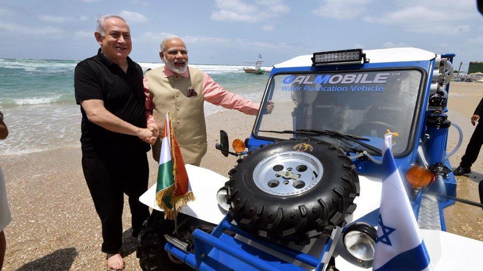 Modi in Israel,Narendra Modi,Benjamin Netanyahu