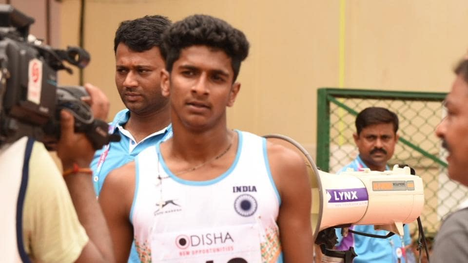 Amoj Jacob qualifies for the semi-finals 400 metres semi-finals at the Asian Athletics Championships at the Kalinga Stadium in Bhubaneswar on Thursday.