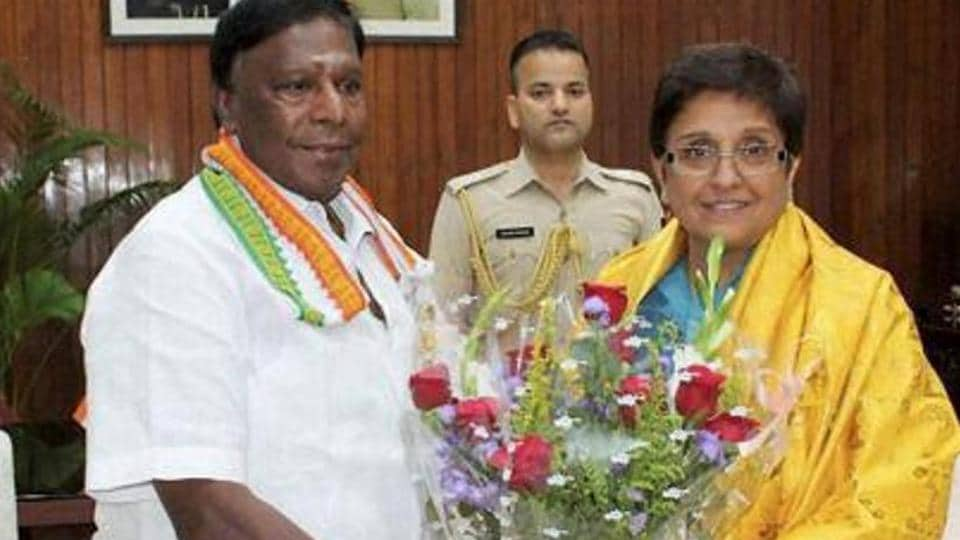 Puducherry CM V Narayanasamy says Lt Governor Kiran Bedi can, at best, delay government decisions, but she cannot stop them.
