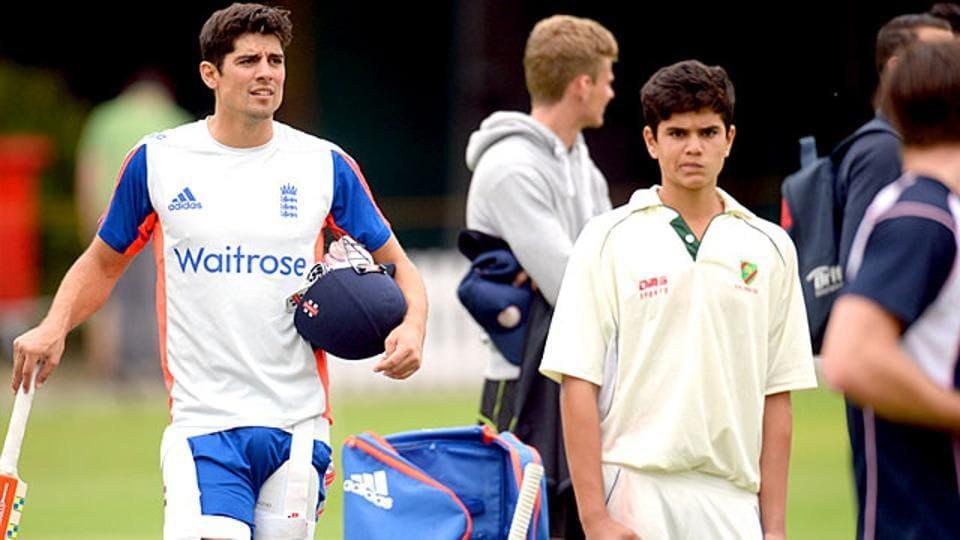 Arjun Tendukar bowled to England batsmen during nets at Lord's on Wednesday. A Tendulkar yorker hit Jonny Bairstow. England start a Test match against South Africa on July 6.