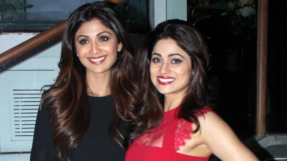 Celebrity sisters Shilpa Shetty and Shamita Shetty.
