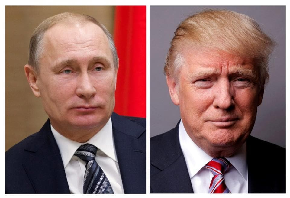 A combination of file photos of Russian President Vladimir Putin and US President Donald Trump.
