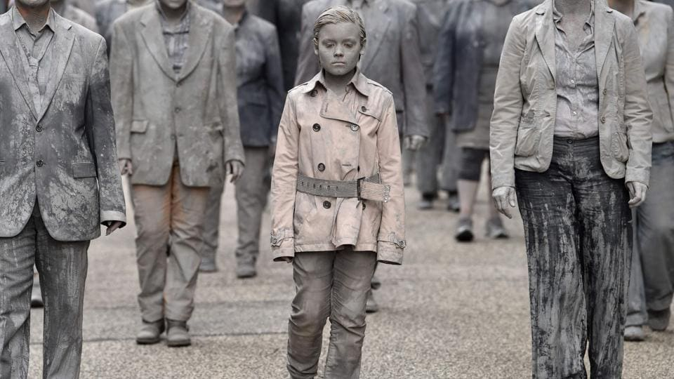 Hundreds of activists dressed as zombies walked and crawled from all corners of the city towards a central square to protest the G20 summit. The streets of Hamburg looked like a scene from Night of the Living Dead as protesters covered in grey clay shuffled through the city centre in a trance-like state. (Christof Stache / AFP)