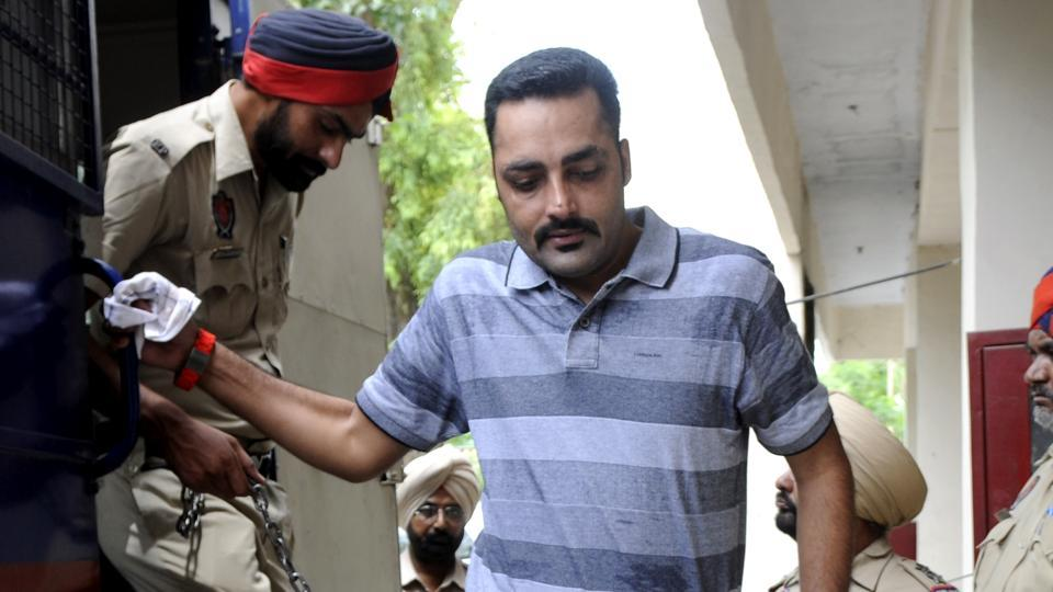 Nabha jailbreak accused Kulpreet Singh alias Neeta Deol at the District court in Patiala on Thursday.