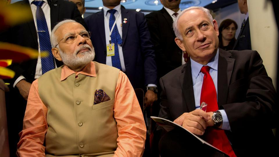 Prime Minister Narendra Modi and Israeli Prime Minister Benjamin Netanyahu attend an Innovation conference with Israeli and Indian CEOs in Tel Aviv, on July 6, 2017.
