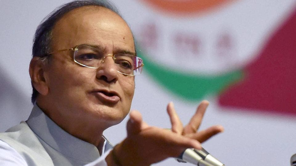 Finance minister Arun Jaitley at a function in New Delhi on Thursday.