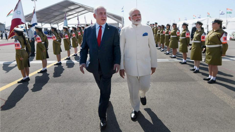 Prime Minster Narendra Modi became the first Indian premier to visit the state of Israel, with Israeli counterpart Benjamin 'Bibi' Netanyahu personally present in a diplomatic gesture earlier accorded only to the President of the United States and the Pope. As Modi's trip to the state enters its final day, here's a look at the highlights. (PIB / PTI)