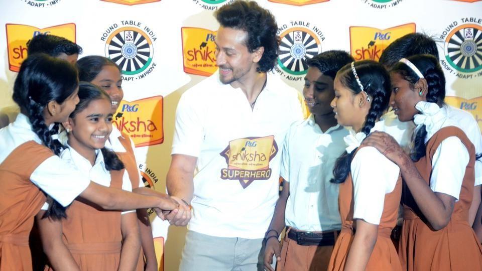 Tiger Shroff during a P&G Shiksha programme in Mumbai on June 30, 2017.