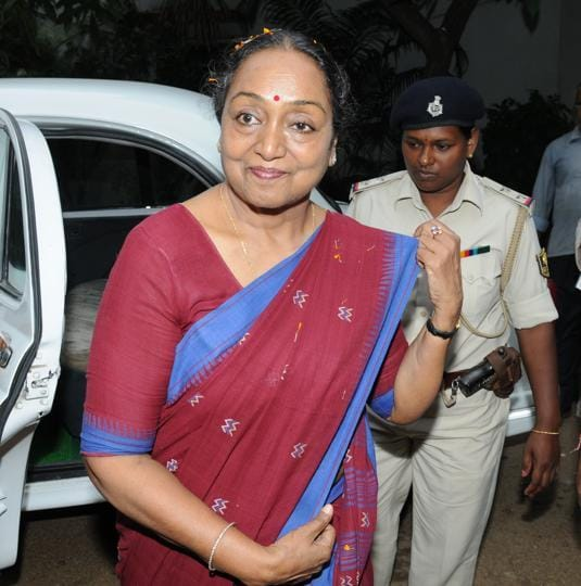 Opposition Prez nominee Meira Kumar arrived in Patna on Thursday to muster support for her candidature.