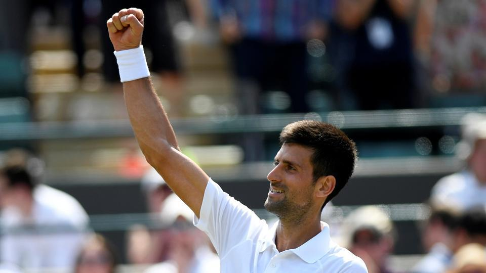 Novak Djokovic stormed into the third round of Wimbledon 2017 championships when he defeated Adam Pavlasek in the second round. (REUTERS)