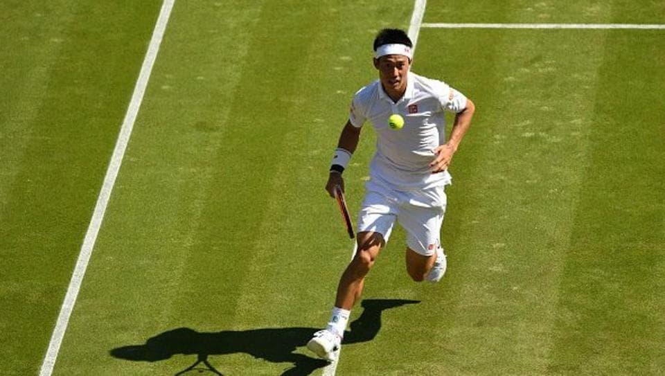 Roberto Bautista Agut stunned ninth seed Kei Nishikori (in pic) 6-4, 7-6(3), 3-6, 6-3 to enter the Round 4 of Wimbledon 2017.