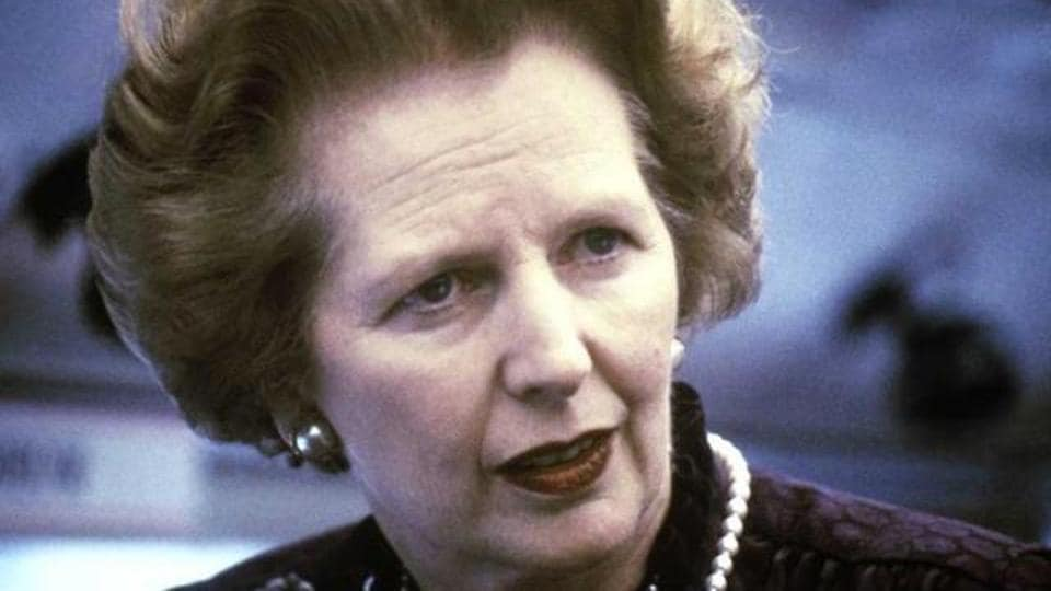 A 1969 photo of former British Prime Minister Margaret Thatcher.