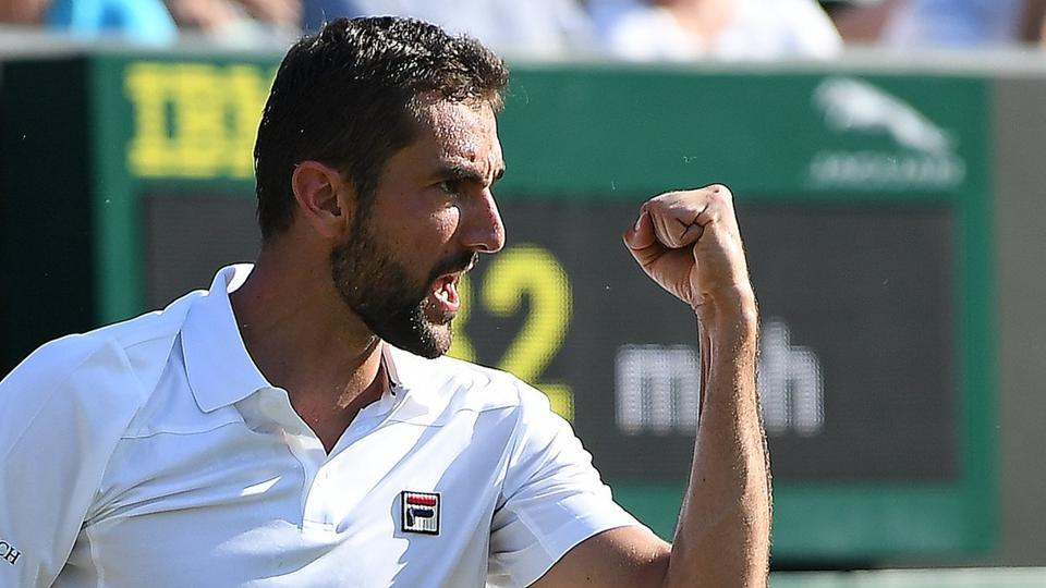 Seventh seed Marin Cilic needed just over two hours to beat American Steve Johnson 6-4, 7-6(3), 6-4. The Croatian hit 40 winners to reach the round of 16 for the sixth time at Wimbledon. (Twitter )
