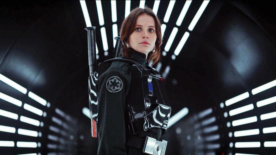 Felicity Jones in a still from Rogue One.