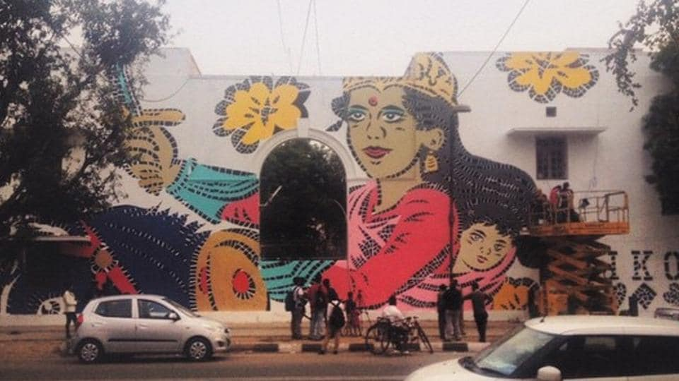 Shahpur Jat,Shankar Market,Street art Delhi
