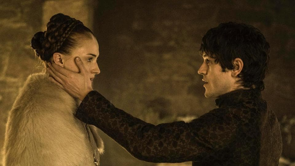Sophie and Iwan in the controversial scene of Sansa and Ramsay's wedding night.