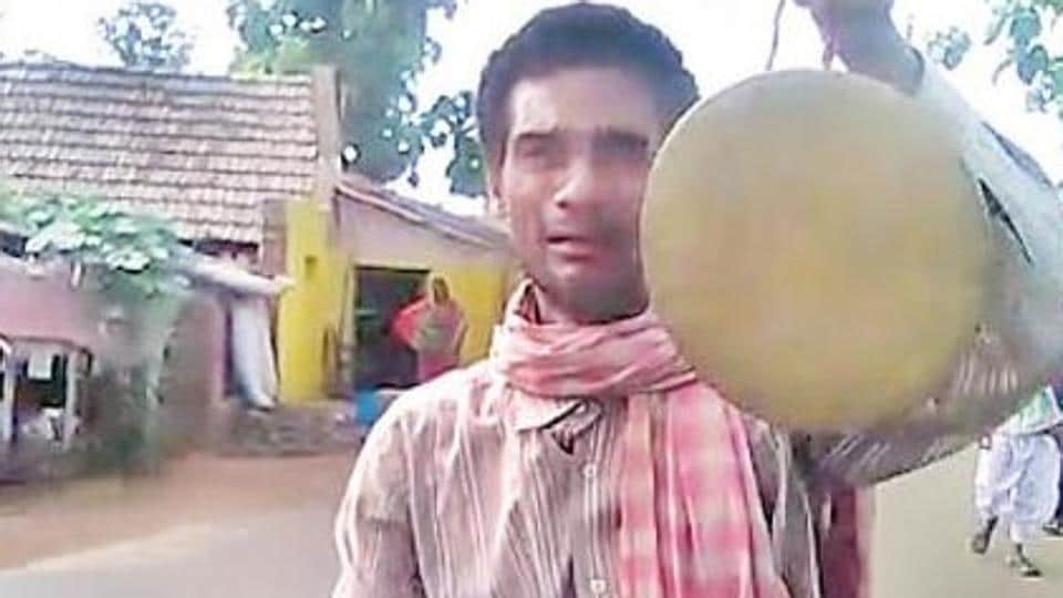 Dushmanta Sahu was forced to go around Ragudiapada village under Badakera grampanchayat by a kangaroo court as a punishment for his wife Mallika Sahu not voting for a particular candidate in a local election