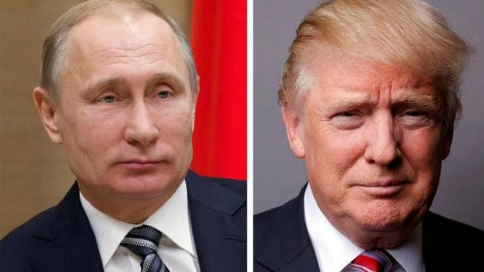 "On the eve of a face-off that carries consequences for world crises including the wars in Syria and Ukraine, Trump set the tone Thursday with a strong attack against Moscow for its ""destabilising"" actions."