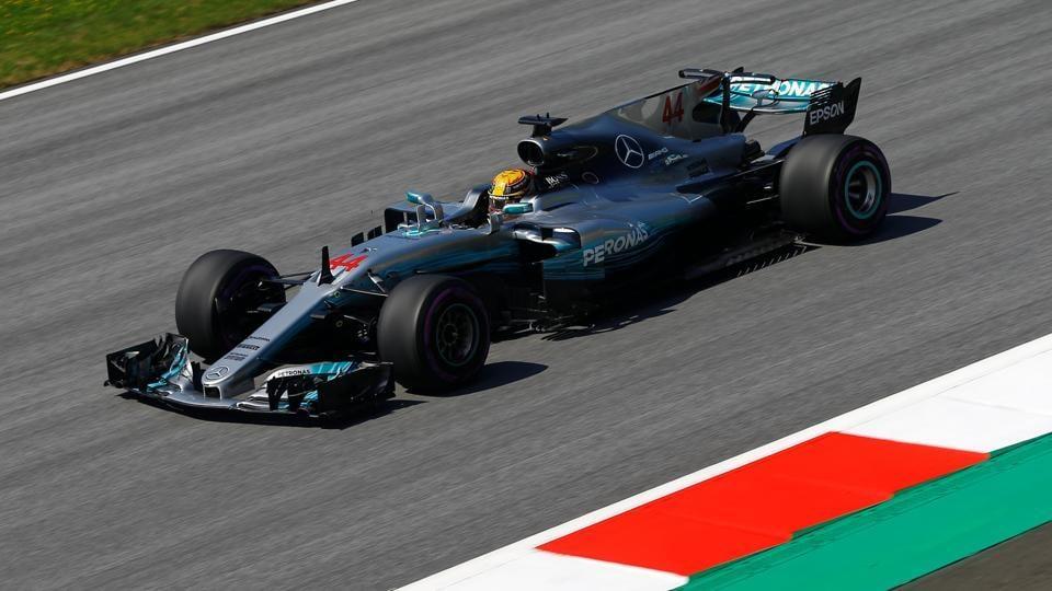 Mercedes' Lewis Hamilton during practice ahead of Sunday's Austrian Grand Prix