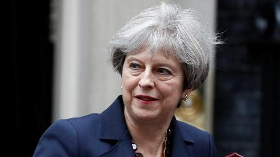 Britain's Prime Minister Theresa May leaves Downing Street in London on June 28, 2017.