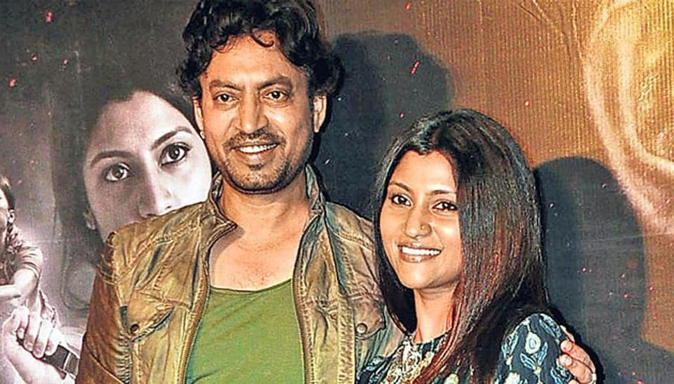 Irrfan Khan and Konkona Sensharma at the trailer launch of Talvar.