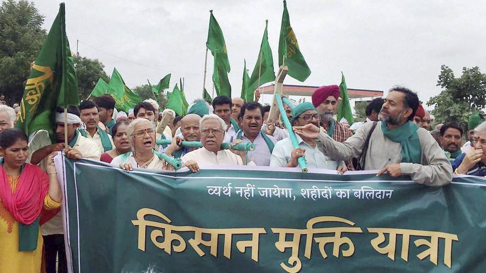 Madhya Pradesh 'Kisan Mukti Yatra' halted, 300 arrested