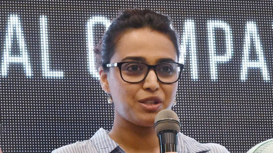 Swara Bhaskar at the launch of a national campaign against mob lynching, in New Delhi on Monday.