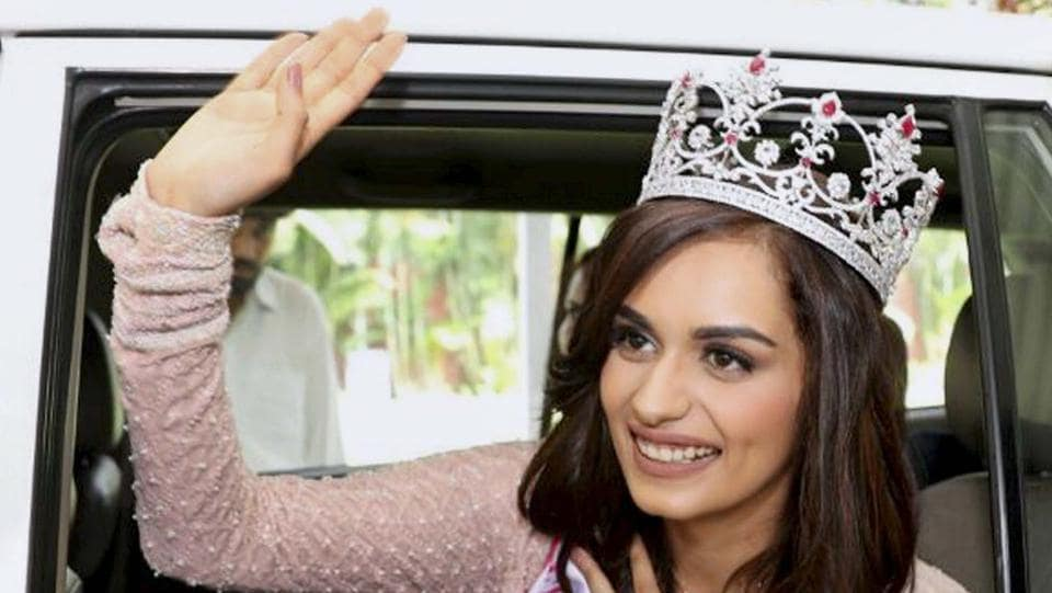 Miss India 2017 Manushi Chillar in Chandigarh. (PTI)