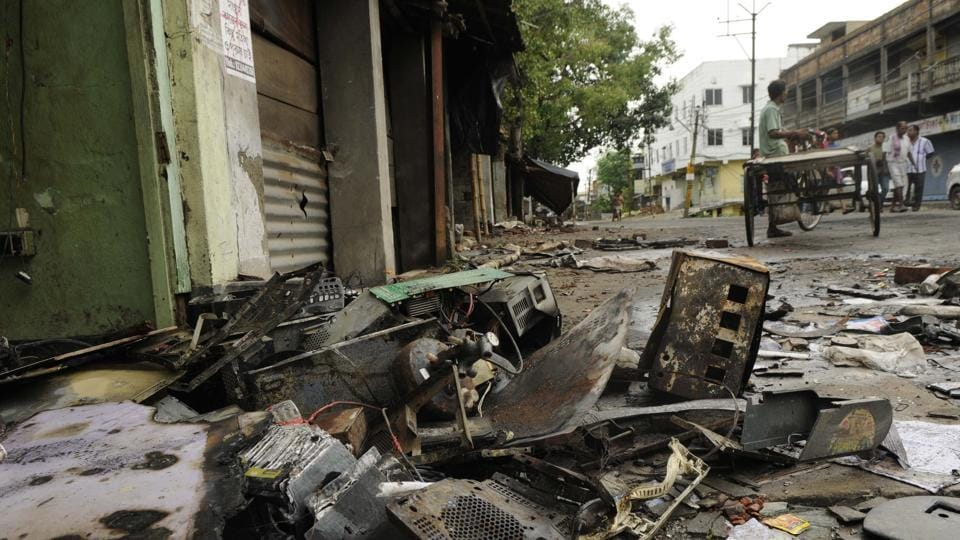 Basirhat in West Bengal  has remained tense following a communal flare up.