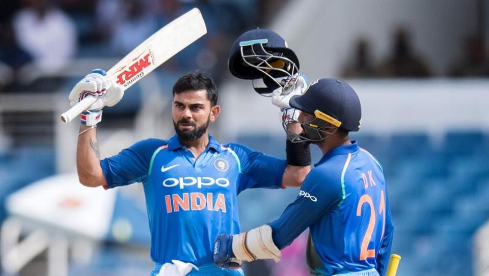 Virat Kohli hit his 28th ODI ton as India beat West Indies by 8 wickets to clinch the five-match series 3-1.