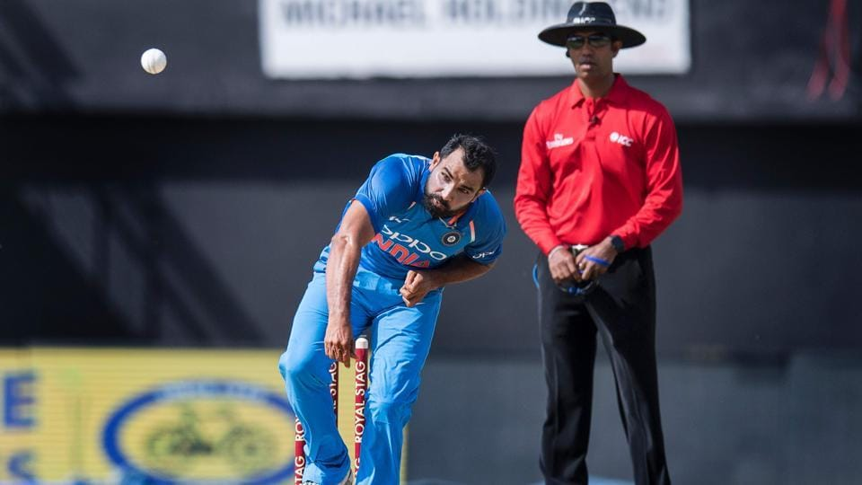 But Mohammed Shami had other plans. The India pacer picked up as many as four wickets to make West Indies totter. (AFP)