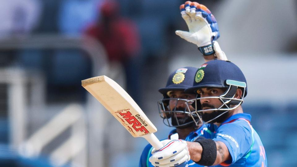 Kohli and Dinesh Karthik put together an unbeaten 122-run third-wicket partnership to take India to a 3-1 series victory over West Indies. (AFP)
