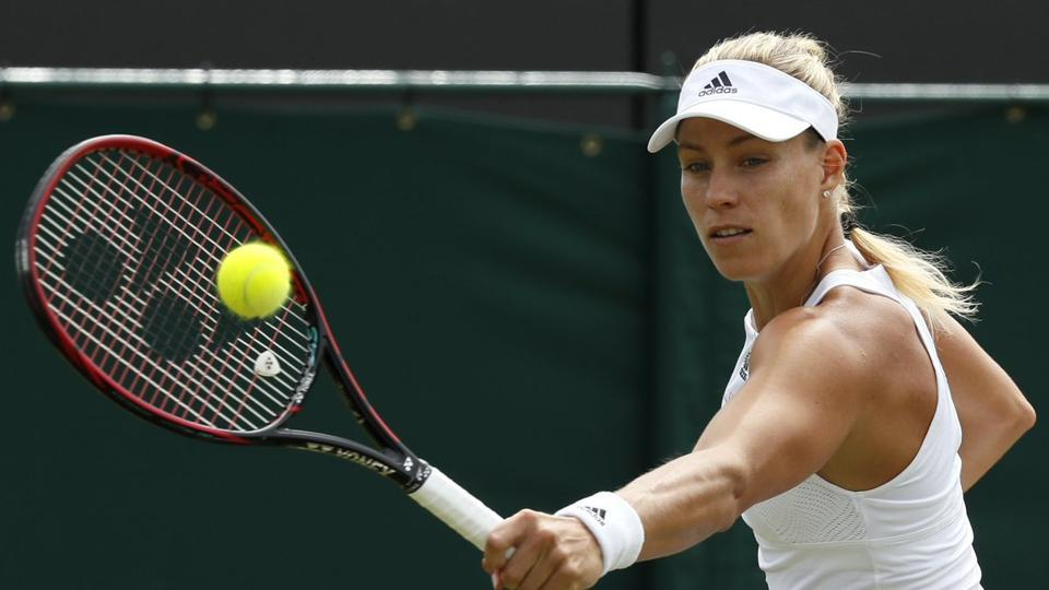 Angelique Kerber beat Shelby Rogers 4-6, 7-6(2), 6-4 to enter women's singles last 16 at Wimbledon 2017.