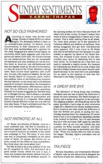 Sunday Sentiments,Hindustan Times,Columns