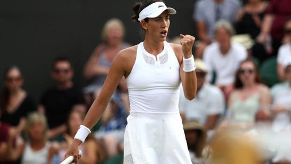 Garbine Muguruza stepped up her bid to return to the Wimbledon final as the world number 15 raced into the fourth round with a 6-2, 6-2 victory over Romania's Sorana Cirstea. (Twitter )