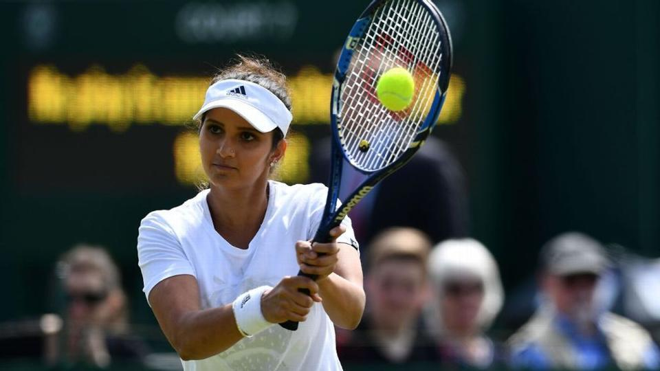 Sania Mirza and her Belgian partner Kirsten Flipkens got the better of British pair Naomi Broady-Heather Watson to enter the third round of women's doubles.  (Twitter )