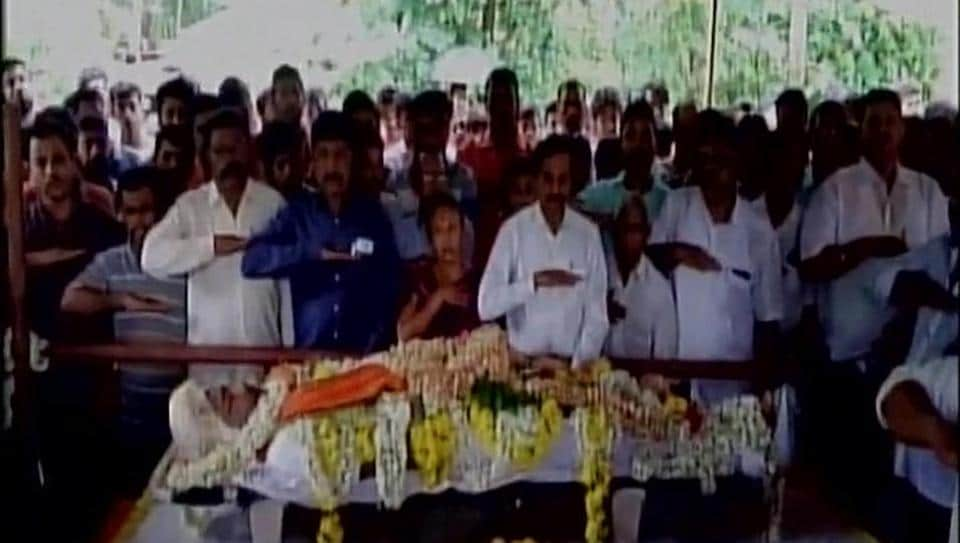 Funeral of RSS Worker  Sarath Madivala